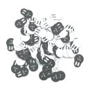 Größenanhänger für Miederwaren Gr. 134 - VE100