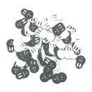Größenanhänger für Miederwaren Gr. 75D - VE100
