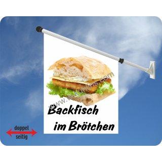 Flagge Backfisch mit Brötchen