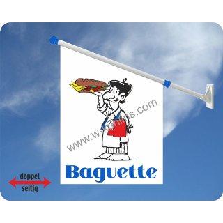 Flagge Baguette man