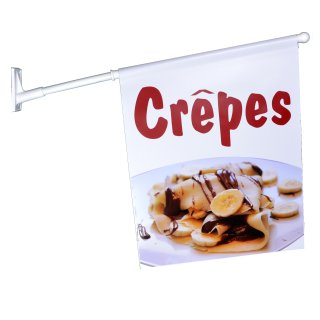 Flagge Crepes mit Banane