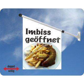 Flagge Currywurst Imbiss geöffnet
