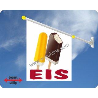 Flagge Eis am Stiel