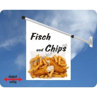 Flagge Fisch und Chips