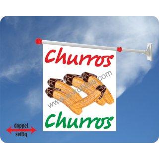 Flagge Churros mit Schoko