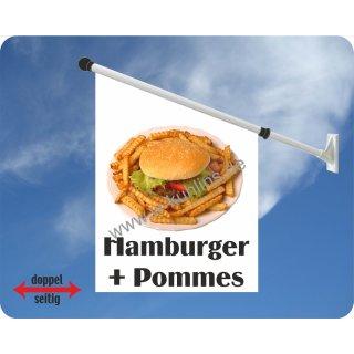 Flagge Hamburger + Pommes