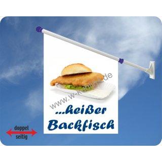 Flagge Fisch heißer Backfisch