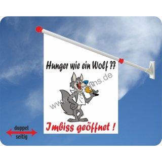 Flagge Hunger wie ein Wolf Imbiss