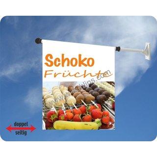 Flagge Schoko Früchte