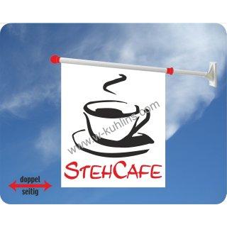 Flagge Kaffee Stehcafe