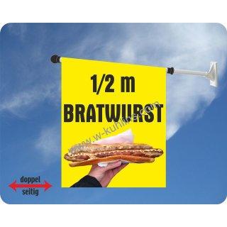 Flagge Bratwurst 1/2 m