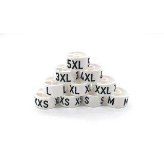 Tex-Clip® weiß mit schwarzer Prägung Gr. 8 - VE25