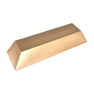 Kunststoffattrappe Goldbarren