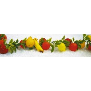 Kunststoffattrappe Girlande Obst lang