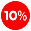 Rabatt-Ankleber 10% 32 cm Durchmesser