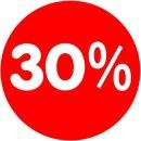 Rabatt-Ankleber 30% 32 cm Durchmesser