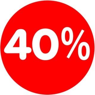 Rabatt-Ankleber 40% 32 cm Durchmesser