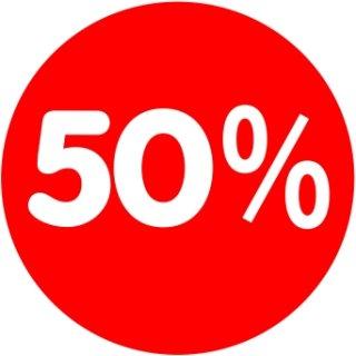 Rabatt-Ankleber 50% 32 cm Durchmesser