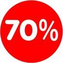 Rabatt-Ankleber 70% 32 cm Durchmesser