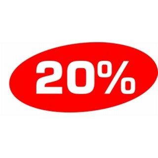 """Ankleber """"20%"""""""