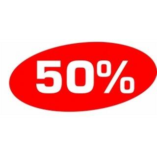 """Ankleber """"50%"""""""