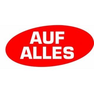 """Aufkleber """"Auf Alles"""" 52 x 24 cm"""
