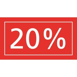 Ankleber 20%, transparent 40 x 22 cm