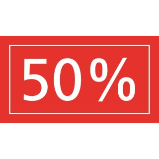 Ankleber 50%, transparent, 40 x 22 cm
