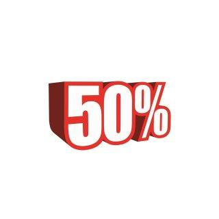 """Ankleber """"3D-50%"""""""