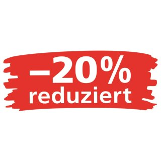 """Ankleber """"Wischer - 20% reduziert"""""""