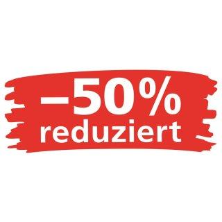 """Ankleber """"Wischer - 50% reduziert"""""""