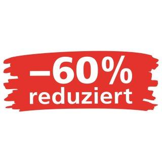 """Ankleber """"Wischer - 60% reduziert"""""""