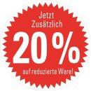 Aufkleber Jetzt zusätzlich 20% auf reduzierte Ware...