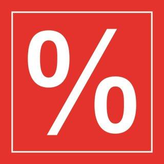 Aufkleber Prozentzeichen, transparent, 33 x 33 cm