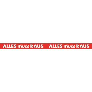 """Aufkleber XXL """"Alles muss Raus"""""""