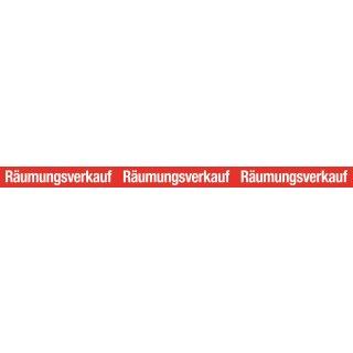 "Aufkleber XXL ""Räumungsverkauf"""