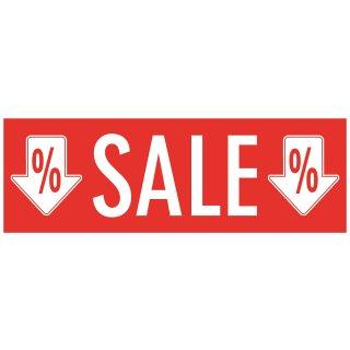 Aufkleber Sale% mit Pfeilen 98 x 34 cm