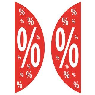 Aufkleber SALE% Prozentzeichen für Schaufenster oder elektrische Schiebetüren
