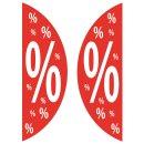 Aufkleber SALE% Prozentzeichen für Schaufenster oder...