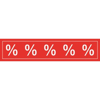 Aufkleber Prozentzeichen, transparent 98 x 22 cm