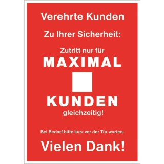 "Rahmenplakat DIN A1 ""Maximale Kundenzahl"""