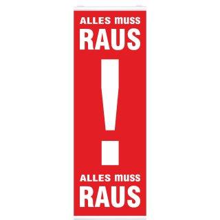 """Langbahn """"Alles muss Raus!"""", Mit Klemmschiene"""