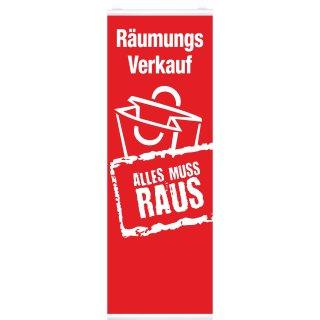 """Langbahn """"Räumungsverkauf"""", Mit Klemmschiene"""
