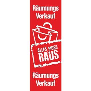 """Langbahn """"Räumungsverkauf"""", Ohne Klemmschiene"""