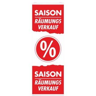 """Langbahn """"Saison Räumungsverkauf"""", Mit Klemmschiene"""