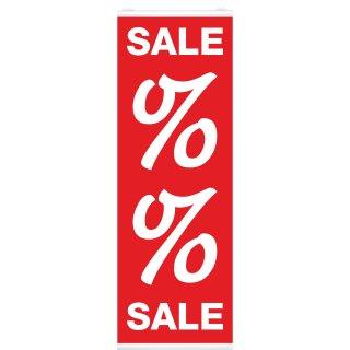 """Langbahn """"Sale Prozent"""", Mit Klemmschiene"""