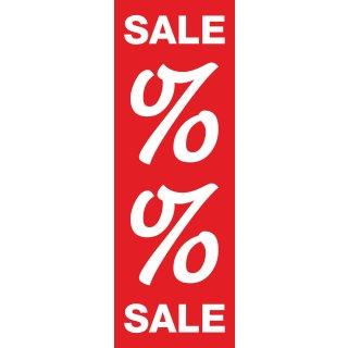 """Langbahn """"Sale Prozent"""", Ohne Klemmschiene"""