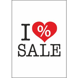 "Rahmenplakat DIN A1 ""I Love Sale"""