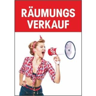 "Rahmenplakat DIN A1 ""Megafon Räumungsverkauf"""