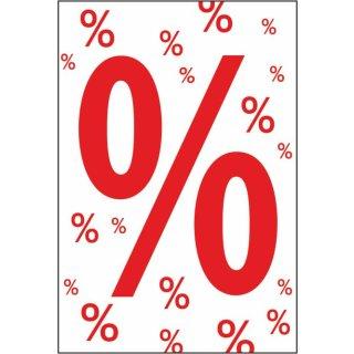 "Rahmenplakat DIN A1 ""Prozent-Zeichen"""